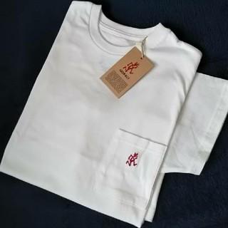 グラミチ(GRAMICCI)の〓新品〓 GRAMICCI ワンポイント刺繍 半袖 ポケットTシャツ/ホワイトM(Tシャツ/カットソー(半袖/袖なし))