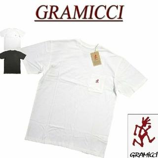 グラミチ(GRAMICCI)の◇新品◇GRAMICCI ワンポイント刺繍 半袖 ポケットTシャツ/ホワイト/L(Tシャツ/カットソー(半袖/袖なし))