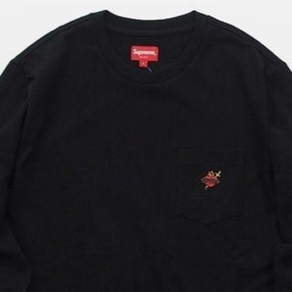 シュプリーム(Supreme)のSupreme Sacred Heart L/S Pocket Tee 黒 M(Tシャツ/カットソー(七分/長袖))