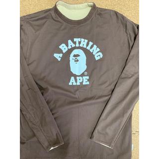 アベイシングエイプ(A BATHING APE)の激レアLサイズ! BAPE怒り猿リバーシブルカットソー茶(Tシャツ/カットソー(七分/長袖))
