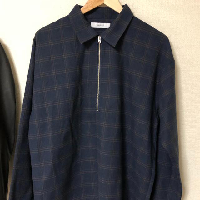 HARE(ハレ)のチェックシャツ ネイビー メンズのトップス(シャツ)の商品写真