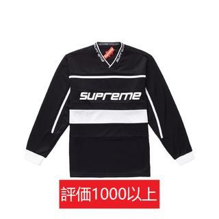 シュプリーム(Supreme)のSupreme Warm Up Hockey Jersey 黒S(Tシャツ/カットソー(七分/長袖))