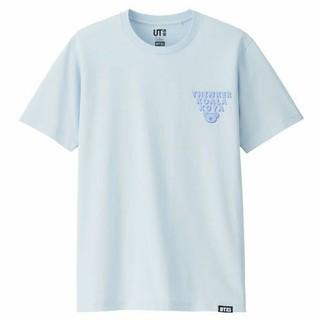 UNIQLO - BT21 Tシャツ 男女兼用Mサイズ ライトブルー バンタン BTS