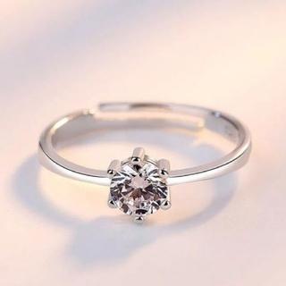 ★男性諸君必見★大粒ダイヤモンド0.5ct&シルバー&プラチナ シンプルデザイン(リング(指輪))
