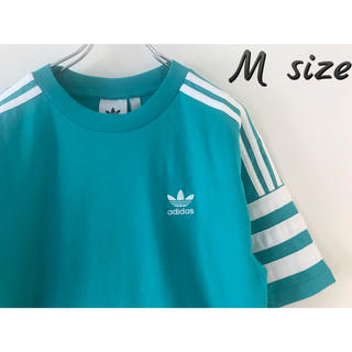 adidas - adidas アディダス Tシャツ M 新品 ブルーグリーン オリジナルス