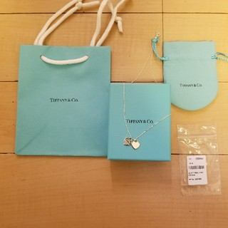 ティファニー(Tiffany & Co.)の新品 リターン トゥ ティファニー ミニダブルハートタグペンダントネックレス(ネックレス)