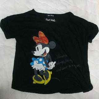 セシルマクビー(CECIL McBEE)のセシルマクビー☆ミニーちゃんプリント ディズニーコラボ レア(Tシャツ(半袖/袖なし))