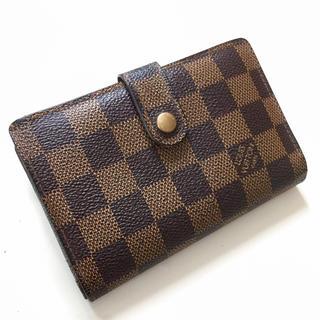 LOUIS VUITTON - 正規品ルイヴィトンがま口財布 ダミエ折り財布