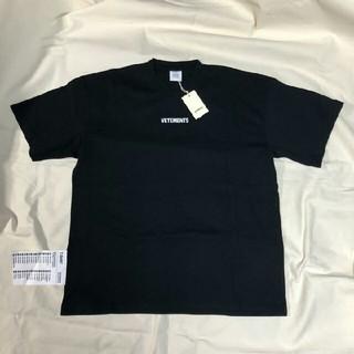 vetements logo Tシャツ Black XS
