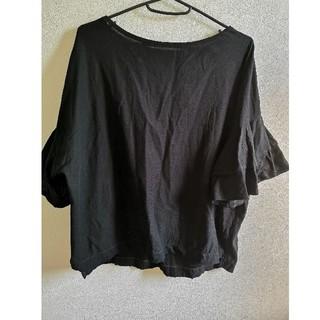 ジーナシス(JEANASIS)のJEANASIS  トップス ブラウス   黒(シャツ/ブラウス(半袖/袖なし))