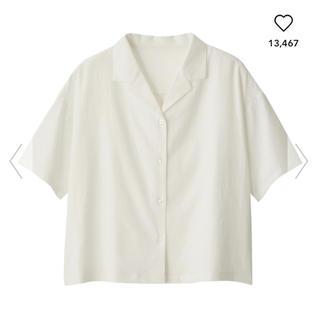 ジーユー(GU)のgu リネンブレンド オープンカラーシャツ 半袖(シャツ/ブラウス(半袖/袖なし))