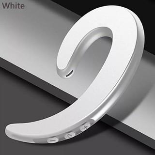 ホワイト//Bluetooth対応 耳掛けタイプイヤホン
