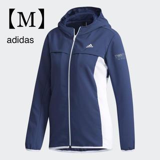 アディダス(adidas)の【新品】アディダス レディース パーカー ジャージ ネイビー ウェア Mサイズ (ウェア)