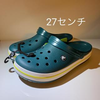 crocs - 27センチ 新品クロックス クロックバンド 正規品  グリーン
