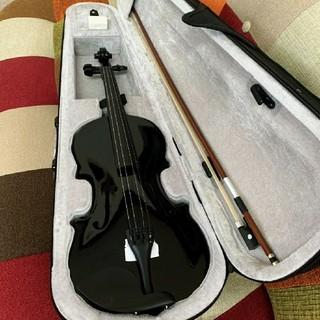 全国送料無料☆木製ヴァイオリン ブラック フルサイズ ゆうパック