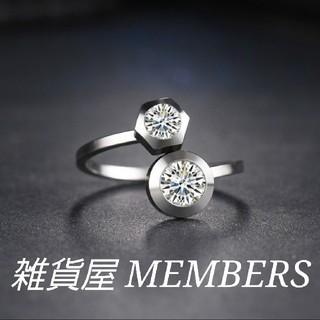 送料無料19号クロムシルバースーパーCZダイヤデザイナーズジュエリーリング指輪(リング(指輪))