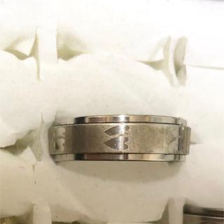 同時購入で300円 ステンレス指輪 ダブルハート 回転 シルバー(リング(指輪))
