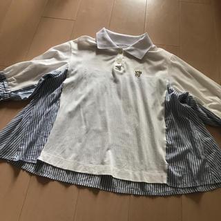 ジェーンマープル(JaneMarple)のジェーンマープル ピケストライプポロシャツ(ポロシャツ)