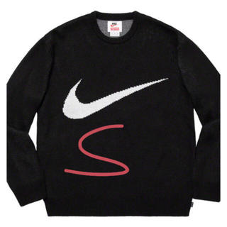 Supreme - 黑S Supreme Nike Swoosh Sweater ブラックS