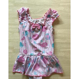 AEON - 水着 ピンク  シェル柄  ワンピース 女の子  110