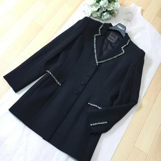 フォクシー(FOXEY)の【美品】FOXEY フォクシー フォーマル 美しい装飾 ジャケット ブラック(テーラードジャケット)