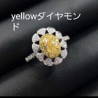 ♡yellowダイヤモンドリング(リング(指輪))