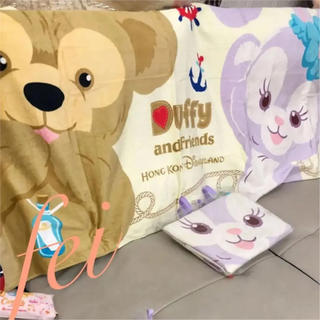 ダッフィー(ダッフィー)の香港ディズニー ビニールバッグ付き バスタオル ダッフィー ステラルー(タオル/バス用品)