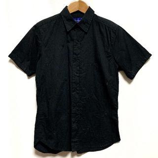 ハーフマン(HALFMAN)のハーフマン HALFMAN 半袖シャツ 刺繍 LIP リップ 唇 黒ブラック S(シャツ)