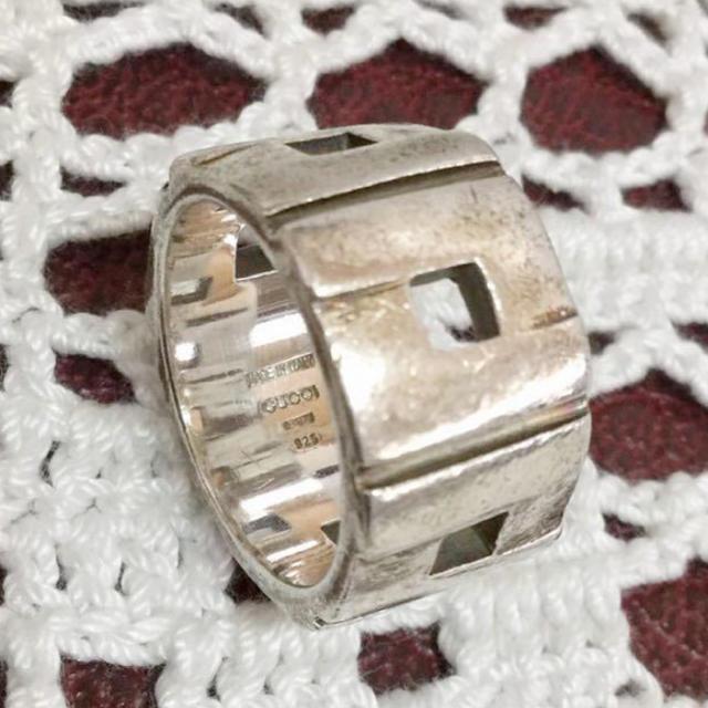 Gucci(グッチ)のGUCCI グッチ 指輪 15号 シルバー 925 中古  レディースのアクセサリー(リング(指輪))の商品写真
