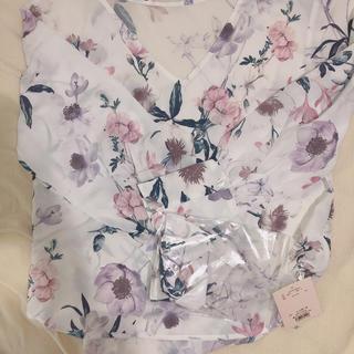 エイミーイストワール(eimy istoire)のeimy water flower ribbon choker shirt(シャツ)