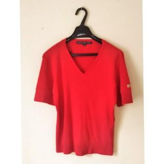 ラルフローレン(Ralph Lauren)のラルフローレン// 赤  VネックTシャツ(Tシャツ(半袖/袖なし))