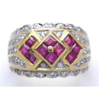 K18 ルビー ダイヤモンド リング(リング(指輪))