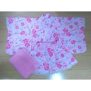 ニシマツヤ(西松屋)の浴衣 ドレス 110cm 3点セット(甚平/浴衣)