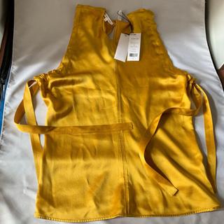 ヘルムートラング(HELMUT LANG)のカットソー  S 袖なし silk HELMUTLANG  新品(カットソー(半袖/袖なし))