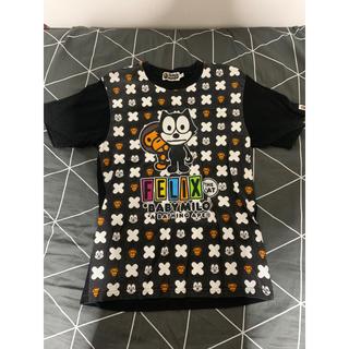 アベイシングエイプ(A BATHING APE)の値下げ❣️BAPE  FELLIX *BABY MILO tシャツ Sサイズ(Tシャツ/カットソー(半袖/袖なし))