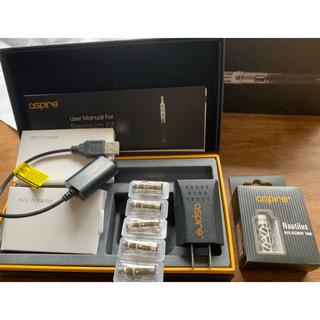 アスパイア(aspire)のアスパイアAspire 充電器+アトマイザーチューブタンク+コイルユニット5個(タバコグッズ)