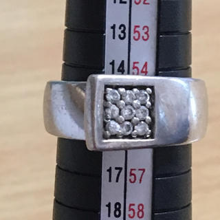 シルバーリング 刻印 925 サイズ 15号 ジルコニア(リング(指輪))