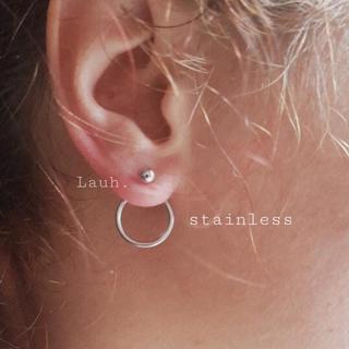 ロンハーマン(Ron Herman)のj11.stainless back circle pierce(silver)(ピアス)