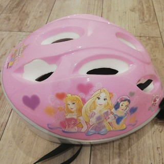 ディズニー(Disney)のアイデス ディズニープリンセス キッズヘルメットSサイズ(ヘルメット/シールド)