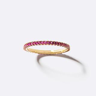 アガット(agete)のベルシオラ ピンクサファイア フルエタニティリング(リング(指輪))