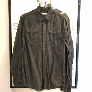 カルバンクライン(Calvin Klein)の(美品・良品)CalvinKlein/カルバンクライン ダークグレーシャツ(シャツ)