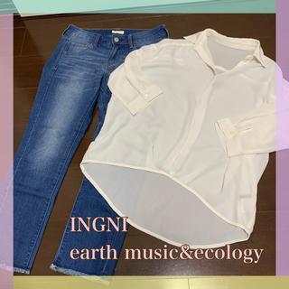 イング(INGNI)のシャツ×アンクル丈デニム(Tシャツ(長袖/七分))