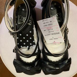 Angelic Pretty - Angelic Pretty Tea Party Shoes 黒 Sサイズ