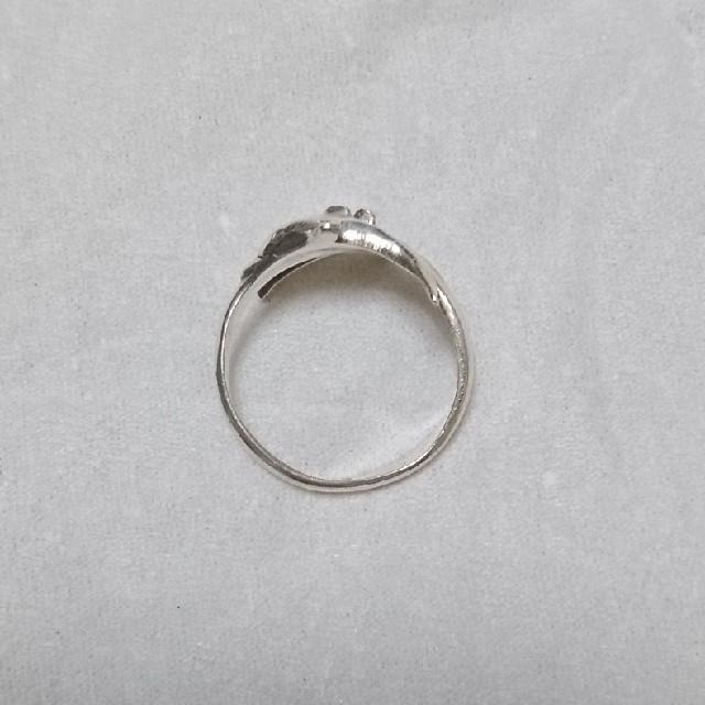 ペア/カップルイルカ オープンリング フリーサイズ シルバー925刻印有 レディースのアクセサリー(リング(指輪))の商品写真