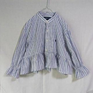 ラルフローレン(Ralph Lauren)の袖フリル/キャンディースリーブ☆裾フリル リメイクシャツ(シャツ/ブラウス(長袖/七分))