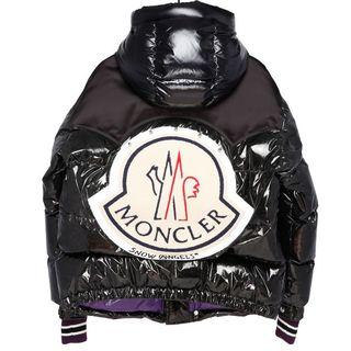 モンクレール(MONCLER)のMONCLER PALM ANGELS TIM 黒 1 定価305640円 (ダウンジャケット)