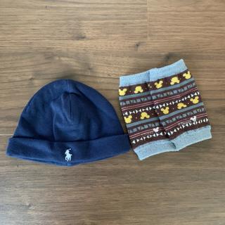 ラルフローレン(Ralph Lauren)のラルフローレンの新生児用の帽子 ネイビー(帽子)
