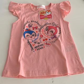 バンダイ(BANDAI)のアンパンマンのドキンちゃんとコキンちゃん肩フリルTシャツ/100サイズ(Tシャツ/カットソー)