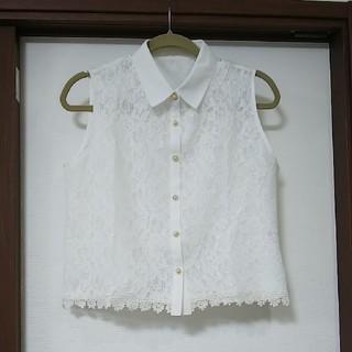 ブラウス ホワイト(シャツ/ブラウス(半袖/袖なし))