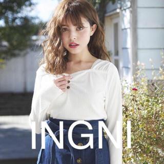 イング(INGNI)の2019最新★INGNIイング★スクエアーハートネック/トップス(カットソー(長袖/七分))